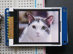 """1.8"""" 18-bit color TFT LCD display with microSD card breakout"""