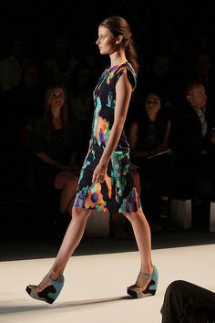 Lela Rose Spring 2013 by @whatiwore This pixal print is amazing!