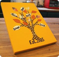 Diy Family tree, cute Christmas gift for parents or grandparents