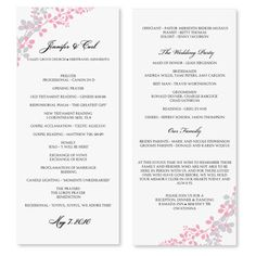 Sale Diy Printable Wedding Program Template By Karmakweddings