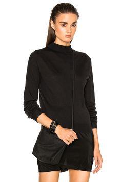 RICK OWENS Biker Lupetto Sweater. #rickowens #cloth #