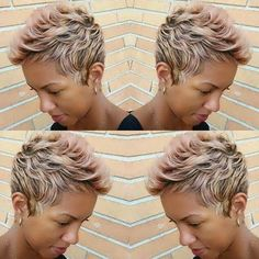 Blonde with pink? Different but I like it!