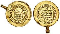 Abbasid, al-Muqtadir, AV Donative Dinar, 3.85g, Madinat al-Salam, AH304, naming heir Abu'l 'Abbas below obverse legend (Bernardi 242Jh; A.245.2)