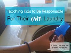 Teaching Kids To Be Responsible For Their Own Laundry