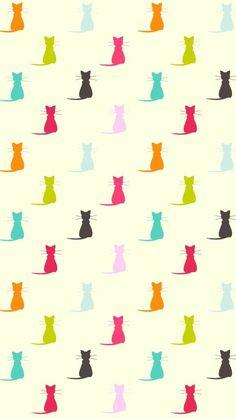 Cats Wallpaper, Pattern Wallpaper, Wallpaper Backgrounds, Iphone Wallpaper, Animal Wallpaper, Disney Wallpaper, Phone Backgrounds, Wallpaper Quotes, Cat Pattern