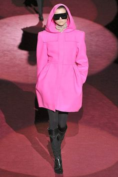 Marc Jacobs Hot Pink Coat  (via trashmenagerie.com)