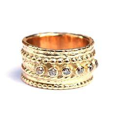 Ring met antieke diamanten