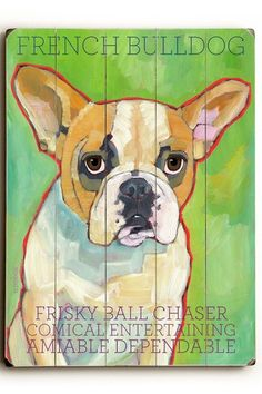 French Bulldog by Pet Art Shop on @HauteLook