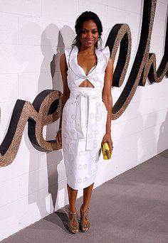 Zoe Saldana Red Carpet Style
