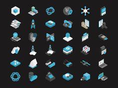 Isocons by Damian Kidd #Design Popular #Dribbble #shots