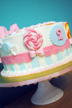 Candy themed cake. Cute.