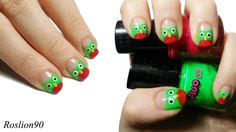 Roslion90 owl #nail #nails #nailart