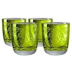 These glasses are traditional quality with a presence that remains potently modern. This solid, sharp looking DOF glass is meant for those who sip with confidence and style, making an attractive addition to your kitchen and entertaining space. Product: 4 Glasses Construction Material: Glass Color: Lemon grass Capacity: 12 oz. Each