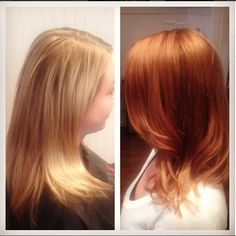 Blonde to Copper Red Hair Before and After Instagram- NotCarolsDaughter www.GingerSalon.com #KevinMurphy #Goldwell