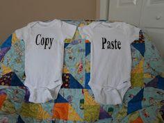 onsies for same gender twins...
