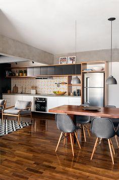 10 espaços pequenos com sala e cozinha integradas