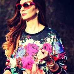 floral by Elia Personal Taste, Sweater Weather, January, Ruffle Blouse, Floral, Sweaters, Tops, Women, Style