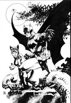 Batman and Catwoman by Jim Lee