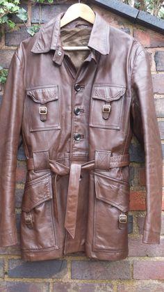 Mens #Vintage #LordJohn of #London Brown Leather Jacket now on #ebay #KingOfCarnabyStreet #Style