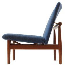 Japan settee (model 137) by Finn Juhl, 1950. Manufactured byFrance & Søn, Denmark. Material teak, brass and wool fabric.