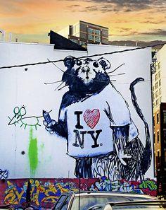 New York Street Art - Bing images New York Street Art, Street Art News, Street Artists, Banksy Rat, Bansky, Space Artwork, Best Graffiti, Organic Art, I Love Nyc