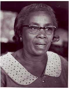 """Gullah/Geechee Civil Rights Leader Septima P. Clark, founder of the """"Citizenship Schools"""" on historic Johns Island, SC in the Gullah/Geechee Nation"""