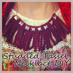 Tutorial: DIY Studded Tassel Necklace