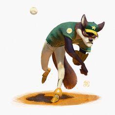 ArtStation - Baseball Wolf!, Gop Gap