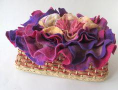 Newborn Prop felt flower, layering blanket , felted leaf  layer  felted mat Felt Mat Layer Napkin Felted, Photography prop by FeltFur on Etsy
