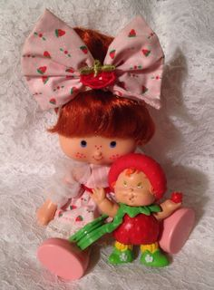 80s Vintage Strawberry Shortcake Extremely RARE Berrykin Doll and Critter   eBay