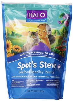 Halo Spot's Stew Natural Dry Cat Food, Sensitive Cat, Seafood Medley, 6-Pound Bag >>> You can get additional details at the image link. (This is an Amazon affiliate link)