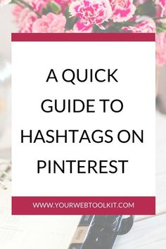 A quick guide to hashtags on Pinterest Marketing Plan, Social Marketing, Content Marketing, Online Marketing, Media Marketing, Online Entrepreneur, Business Entrepreneur, How To Use Hashtags, Pinterest For Business