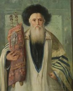 Maria Szantho - Rabbi with Torah