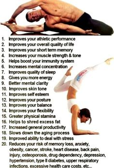 Yoga. Reasons. Fitness.