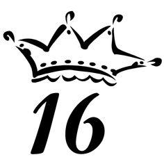 23 awesome sweet 16 crown clip art blue bayou birthday invites rh pinterest com  sweet sixteen clipart