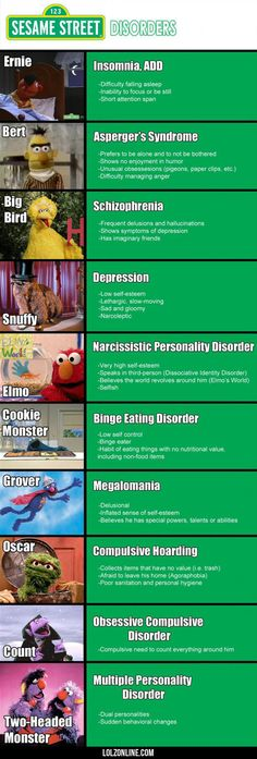 Sesame Street Mental Disorders #lol #haha #funny