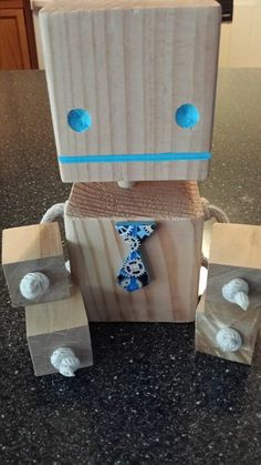 Wooden Robot by MamaReneeNayNay on Etsy