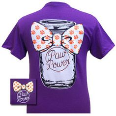 South Carolina Clemson Big Bow Mason Jar Girlie Bright T Shirt | SimplyCuteTees