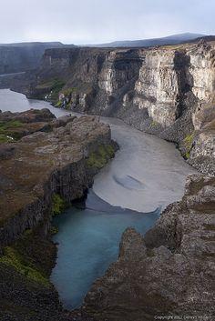 Just after Hafragilsfoss, North Iceland