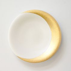 handprinted line 「MOONプレート」 金色に光る細い三日月がとってもきれい。