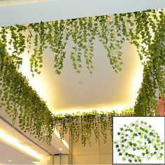 Boston Ivy Artificial Fake Leaf Garland Plant Vine Foliage Party Decor                                                                                                                                                                                 More