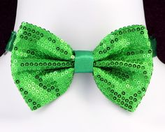 07d0cc6a39a0 Irish Sequined Mens Bow Tie Adjustable St. Patrick's Day Gift Green Bowtie  New #TiesJustForYou