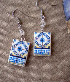 Portugal Tile BLUE Antique Replicas Belem Lisboa  see by Atrio,