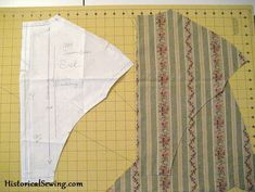 How to match stripes on a bodice -- a useful skill to know!