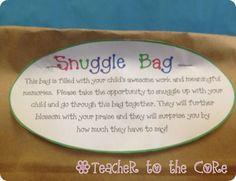 Snuggle Bags