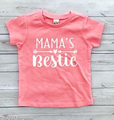 Aww! Momma's little bestie! Too cute! Mama's Bestie - Toddler Shirts, Toddler Outfit, Girls Shirt, Boys Shirt, Baby Clothes, Baby Shirts, Toddler Tees #affiliate