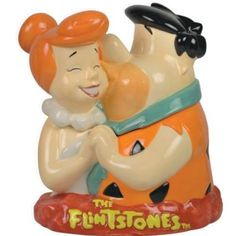 Flintstones TV Theme Cookie Jar with Fred & Wilma