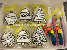 Paint Your Own cookie sets.  I love that the paint palet is a separate cookie.   Just something a little different.   :)