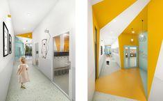 MODERN INTERIOR IN KINDERGARTEN Modern Interior, Oversized Mirror, Kindergarten, Furniture, School, Home Decor, Decoration Home, Room Decor, Modern Interiors