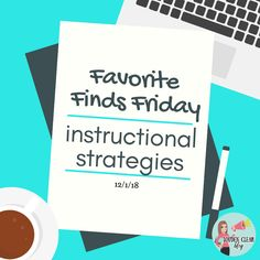 Favorite Finds: Instructional Strategies - Louden Clear in Education Ela Classroom, English Classroom, Instructional Coaching, Instructional Strategies, Visible Learning, High School English, New Job, Literacy, Teacher